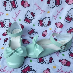 Antaina Glossy Mint Lolita Low Heel Shoes Sandals