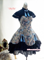 Strawberry Witch Kylin & Sienna Qi Lolita OP Dress