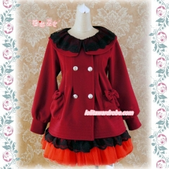 Strawberry Witch Babydoll Style Lolita Winter Coat