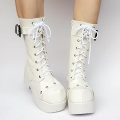 Halloween High Platform Lolita Diamond Head Boots