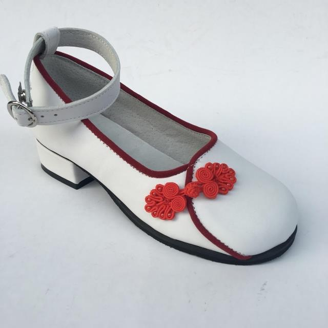 White X Red & low heel