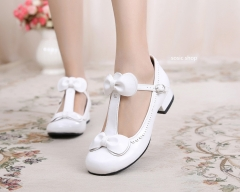 T-straps Sweet Low Heels Lolita Shoes
