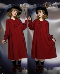The Cute Witch Lolita Point Collar OP Dress