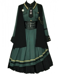 WithPuji -The Desert Zone- Military Lolita Dress Set