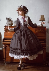 Fantastic Wind -Striped Doll- Vintage Classic Lolita OP Dress