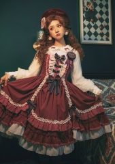 Fantastic Wind -Striped Doll- Vintage Classic Lolita JSK
