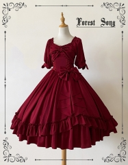 Forest Song -Love of Floria- Vintage Classic Lolita OP Dress (Unicolor Version)